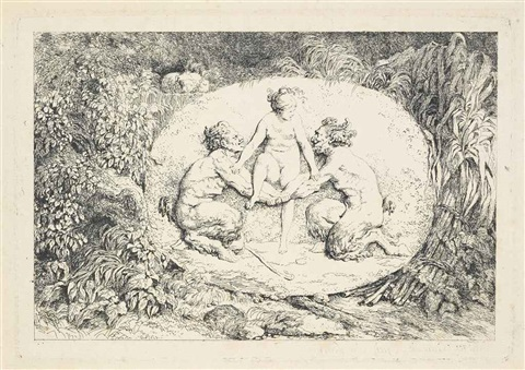 quatres bacchanales set of 4 works by jean honoré fragonard