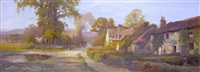 sunny afternoon in the village by edward henry holder