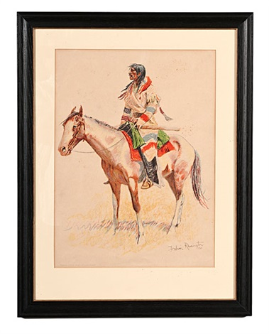 from a bunch of buckskins by frederic remington