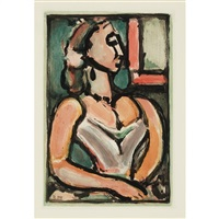 femme fiere (from les fleurs du mal) by georges rouault