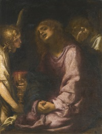 christ supported by two angels by francesco (cecco bravo) montelatici