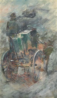 old horse cab by theodore robinson