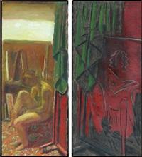 diptych: nude by jan rauchwerger