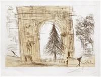 washington gate (with christmas tree) by salvador dalí