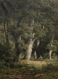 faggot bearers amidst trees by jan willem van borselen