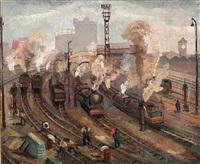 a busy train terminal by rufino 'cebal' ceballos