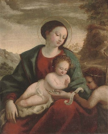 the madonna and child with the infant saint john the baptist by domenico beccafumi