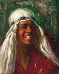 portrait d'oriental by adam styka