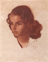 portrait of a girl by alexander evgenievich iacovleff