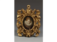 an oval portrait miniature of a lady, traditionally identified as margaret, duchess of parma by british school (16)