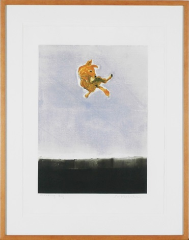 floating dog by fritz scholder
