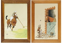 polo (+ 5 others; 6 works, various sizes) by etienne le rallic