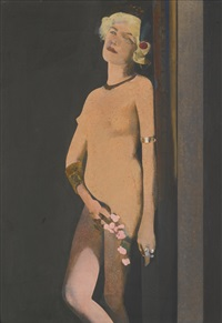 standing girl by peter blake