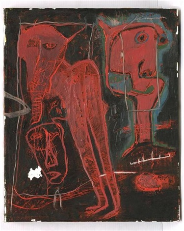 sin título personajes con caballo pesonaje con fondo amarillo 3 works by alejandro santiago
