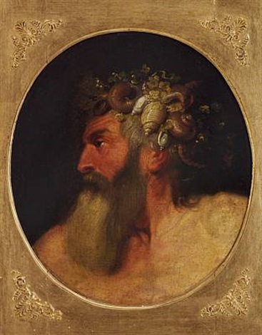 neptune with shells in his hair by jacob jordaens