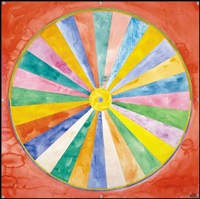 circle divided into 28 equal sections by greg curnoe