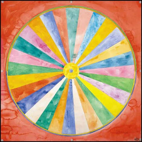 circle divided into 28 equal sections by greg curnoe on artnet