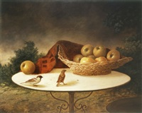birds and apples by moni leibovitch