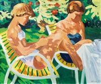 two young women in the sun by karl adser