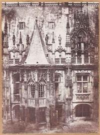 détail de la façade du palais de justice, vue extérieure du musée, rouen (2 works) by louis désiré blanquart-evrard