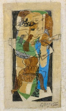 guéridon au guitare by georges braque
