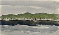 sea gulls on pier by arthur dove