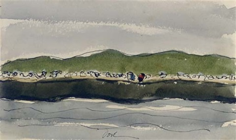 sea gulls on pier by arthur dove