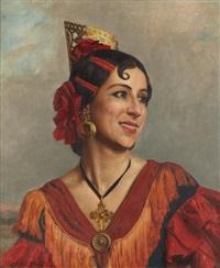 jeune femme espagnole by andré leroux