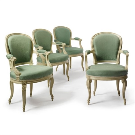 A Set Of Louis Xvi Style Dining Chairs (set Of 6) By Georges Jacob
