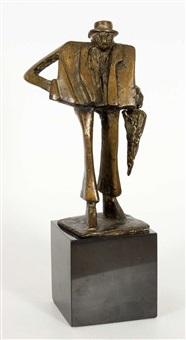 uomo con ombrello by kurt laurenz metzler