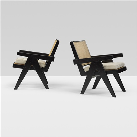 lounge chairs from chandigarh set of 4 by pierre jeanneret