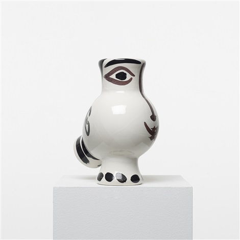 woman faced wood owl vase by pablo picasso