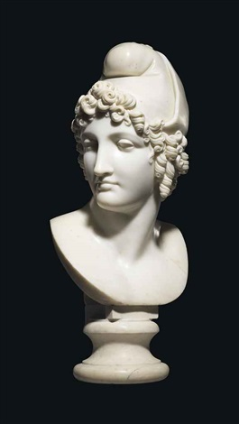 bust of paris by antonio canova