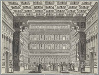 the ballroom in the doge's palace, venice: set design for a performance at the teatro alla scala, milan, of the tragic ballet otello by alessandro sanquirico