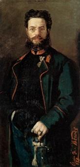 portrait des offiziers theodor von hörmann by karl von merode