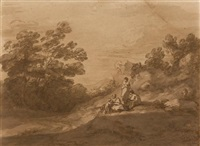 figures resting in a woodland landscape by thomas gainsborough