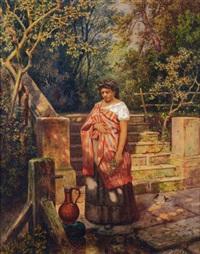italienne à la fontaine by ed allanschmidt