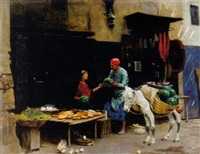 the watermelon seller by raphael von ambros