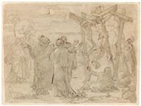 kreuzigung (entwurf für die friedenskirche zu potsdam) by friedrich geselschap