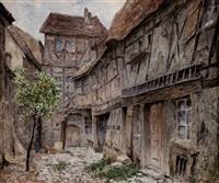 innenhof in rothenburg ob der tauber by heinrich rettig