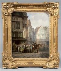 marché en bretagne by léonard saurfelt