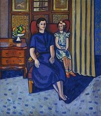 portrét paní otrubové s dcerou by karel cerný