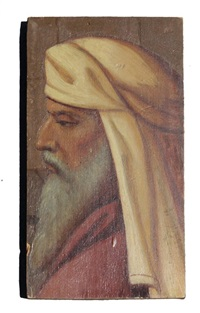 profile portrait of arab man by julius amatus roeting
