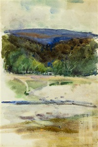 the lake, waikanae by isabel field