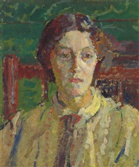 portrait of mrs whelan by harold gilman
