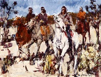 navajo scouts, four indian riders by james colt
