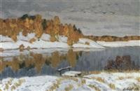 paysage d'hiver by vladimir bobrov