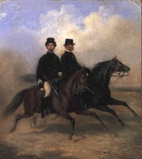 equestrian portraits of victorian mounted police in full dress by james nicholas fardoulys