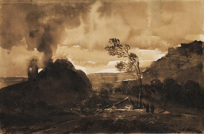 paysage by françois marius granet