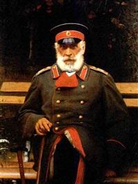portrait of admiral login loginovich heyden by ivan nikolaevich kramskoy